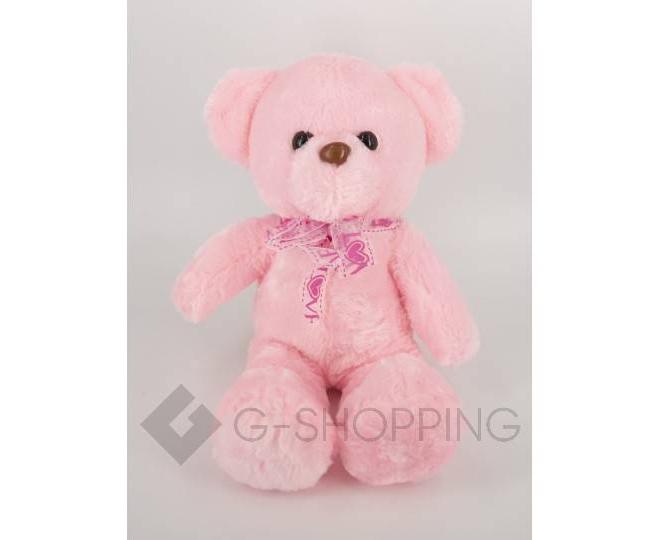 "Мягкая игрушка ""Светящийся мишка LOVE"" розовая WJ0061-11-A, фото 2"