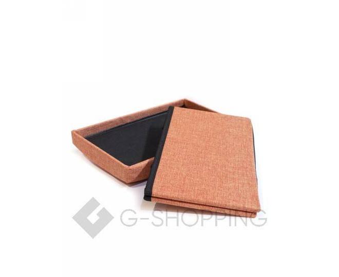 Стильное сиденье с ящиком для хранения из текстиля оранжевый, фото 2