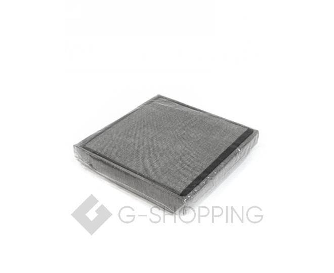 Стильный серый квадратный табурет с ящиком для хранения RYP57-23-30 30х30, фото 5