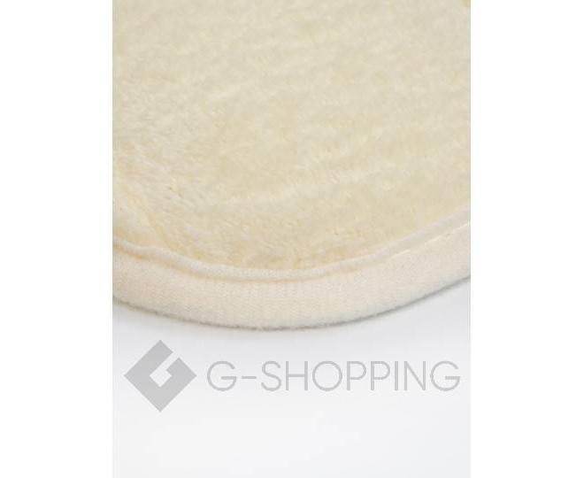 Антискользящий напольный коврик из кораллового флиса молочно-белый, фото 2