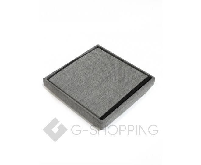 Стильный серый квадратный табурет с ящиком для хранения RYP57-23-30 30х30, фото 6