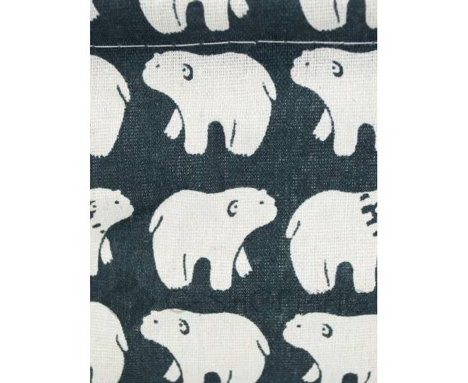 """Настольная текстильная корзина для хранения мелочей """"Белые медведи"""", фото 3"""