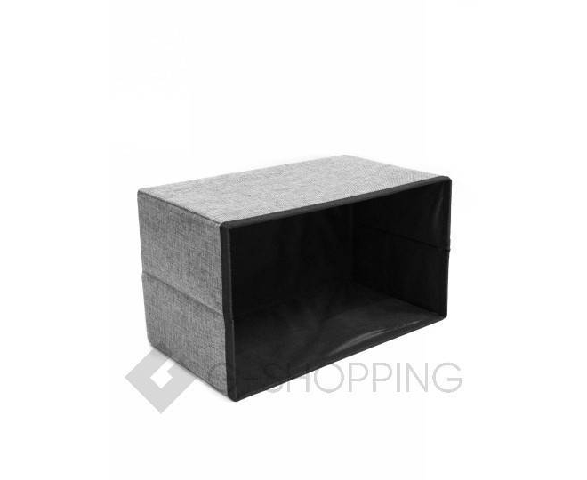 Стильное сиденье с ящиком для хранения из текстиля табурет-ящик, фото 3