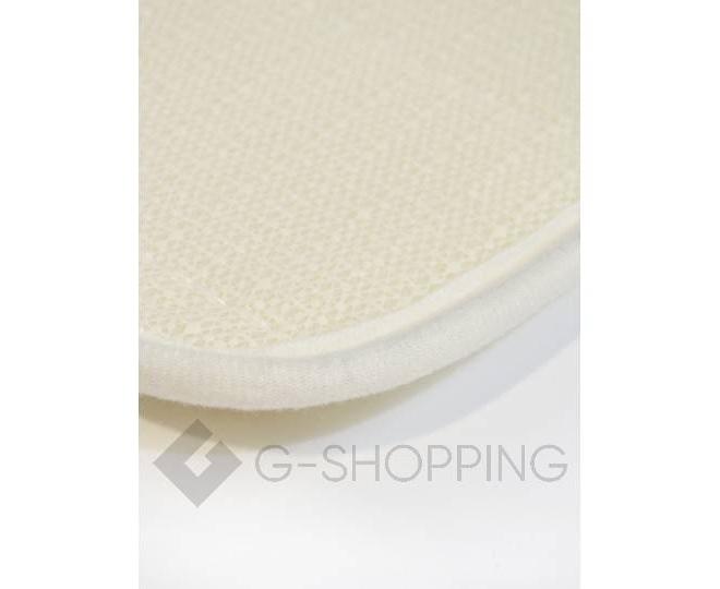 Антискользящий напольный коврик из кораллового флиса молочно-белый, фото 3