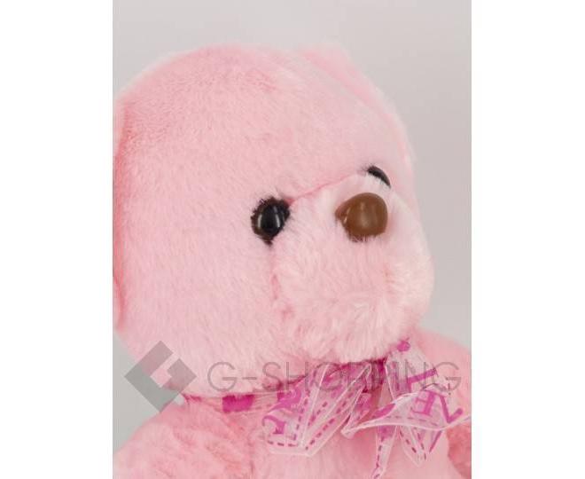 "Мягкая игрушка ""Светящийся мишка LOVE"" розовая WJ0061-11-A, фото 4"