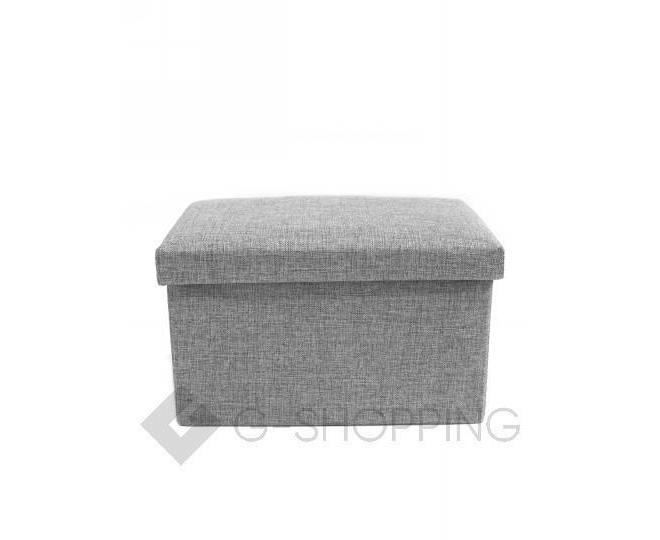 Стильное сиденье с ящиком для хранения из текстиля табурет-ящик, фото 4