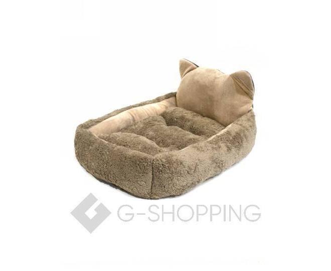 Квадратная кровать для домашних питомцев с мультяшным принтом кошки, фото 5