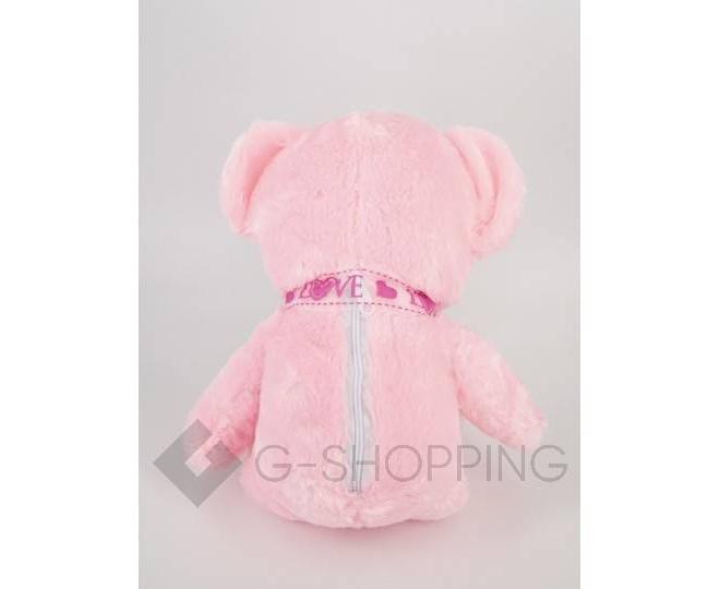 """Мягкая игрушка """"Светящийся мишка LOVE"""" розовая, фото 5"""