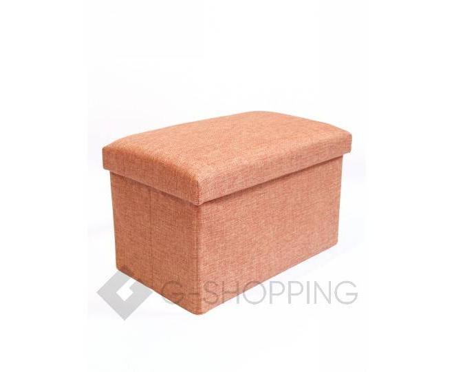 Стильное сиденье с ящиком для хранения из текстиля оранжевый, фото 4