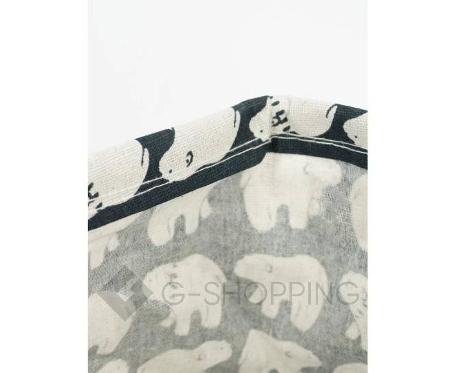 """Настольная текстильная корзина для хранения мелочей """"Белые медведи"""", фото 5"""