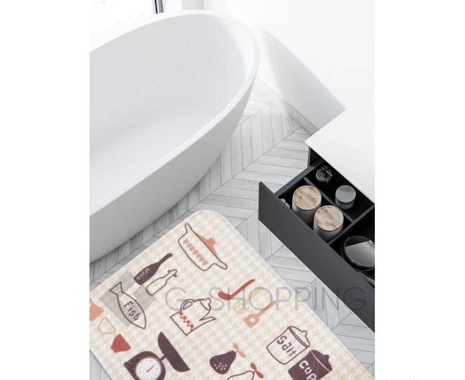 """Антискользящий влагопоглощающий напольный коврик """"Kitchen"""" R012-U-L, фото 5"""
