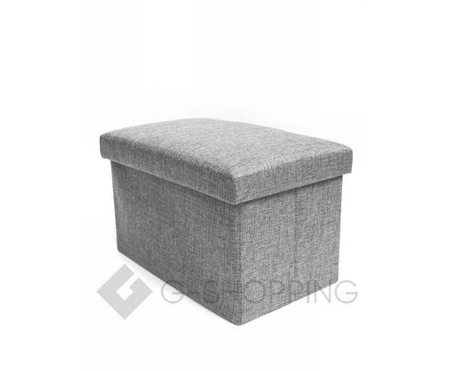 Стильное сиденье с ящиком для хранения из текстиля табурет-ящик, фото 5