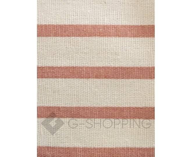 Настенный органайзер из льняной ткани с 8 карманами в красную полоску, фото 5