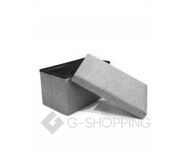 Стильное сиденье с ящиком для хранения из текстиля табурет-ящик, фото 6