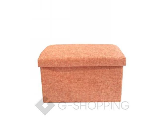 Стильное сиденье с ящиком для хранения из текстиля оранжевый, фото 5