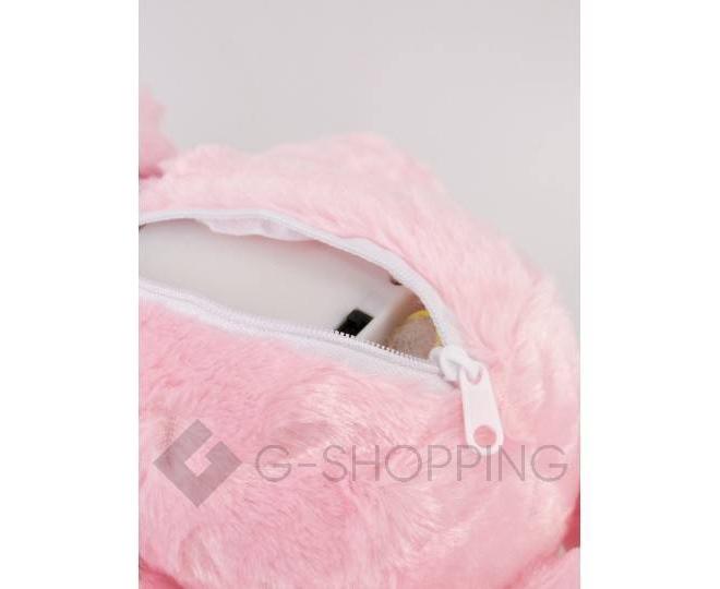 """Мягкая игрушка """"Светящийся мишка LOVE"""" розовая, фото 6"""