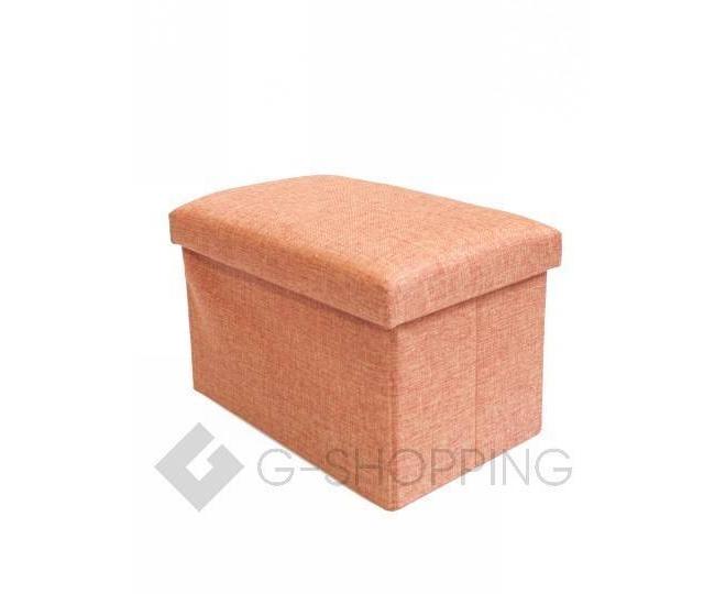 Стильное сиденье с ящиком для хранения из текстиля оранжевый, фото 6