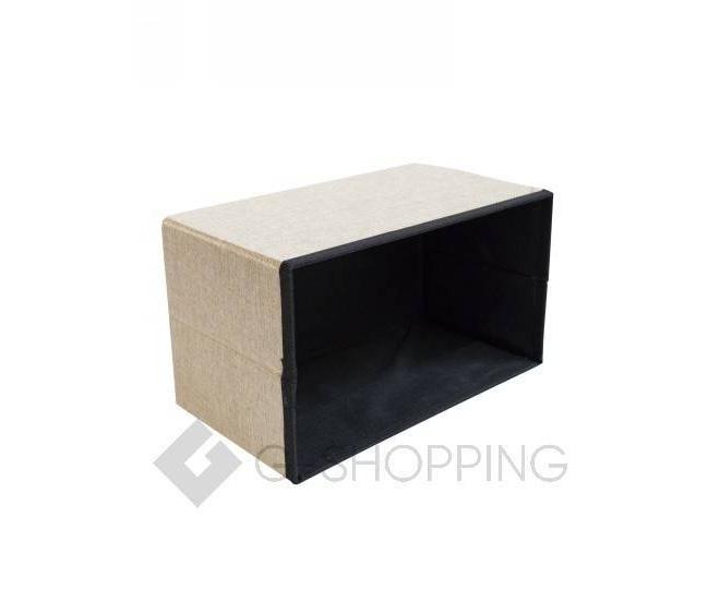 Стильное сиденье с ящиком для хранения из текстиля бежевый, фото 7
