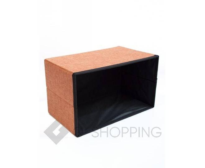 Стильное сиденье с ящиком для хранения из текстиля оранжевый, фото 7