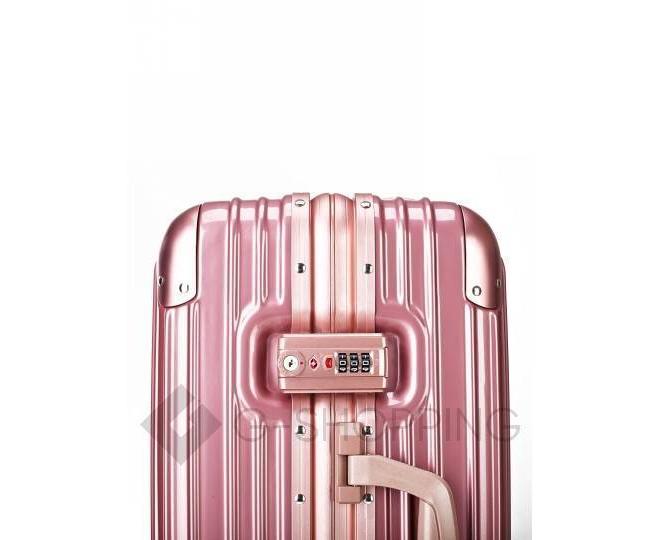 Пластиковый чемодан на колесиках розовый PC151-11-20 Удачная покупка