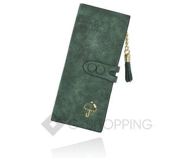 Женский кошелек Kingth Goldn с067 зеленый с кнопочным замком, фото 1