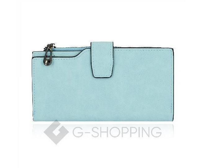 Женский кошелек Kingth Goldn с069 голубой с кнопочным замком, фото 1