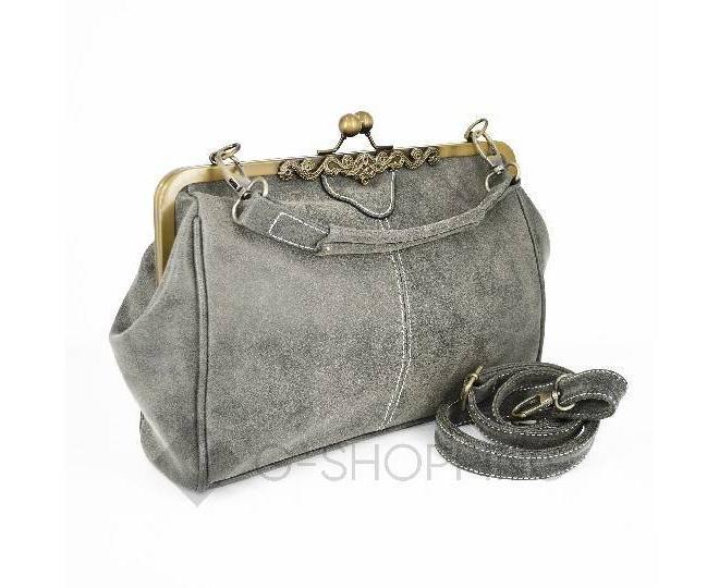 Женская повседневная серая сумка среднего размера c086 Kingth Goldn, фото 3