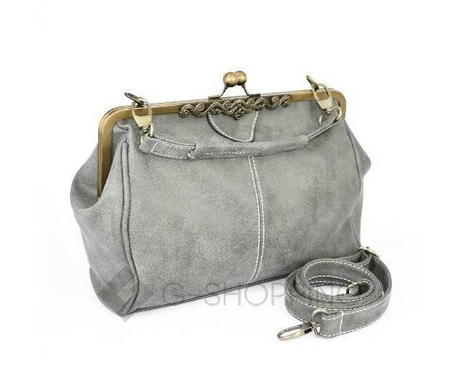 Женская повседневная светло-серая сумка среднего размера c086 Kingth Goldn, фото 3