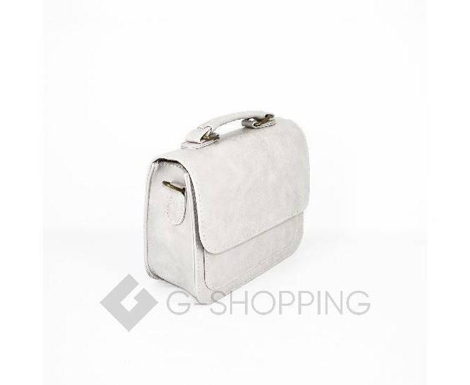 Женская маленькая серая сумка кросс-боди на магнитной застежке c083 Kingth Goldn, фото 7