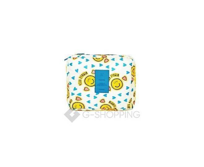 Косметичка женская желтая смайлик, фото 1