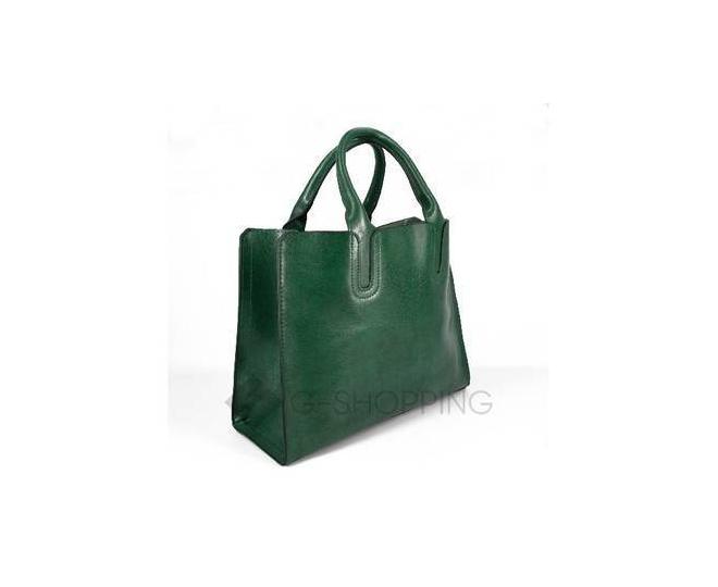 Женская сумка из экокожи на молнии изумрудно-зеленая C088-16 Kingth Goldn, фото 1