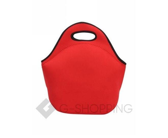 Женская красная сумка из неопрена среднего размера на молнии Kingth Goldn, фото 3
