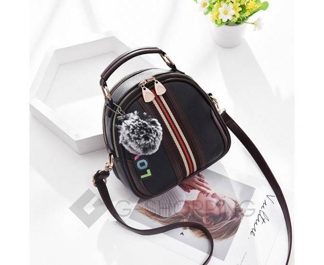 Женская повседневная черная сумка среднего размера на молнии C111-01, фото 3