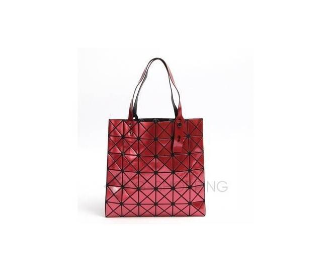 Женская красная сумка на молнии с треугольниками среднего размера C117-008, фото 5