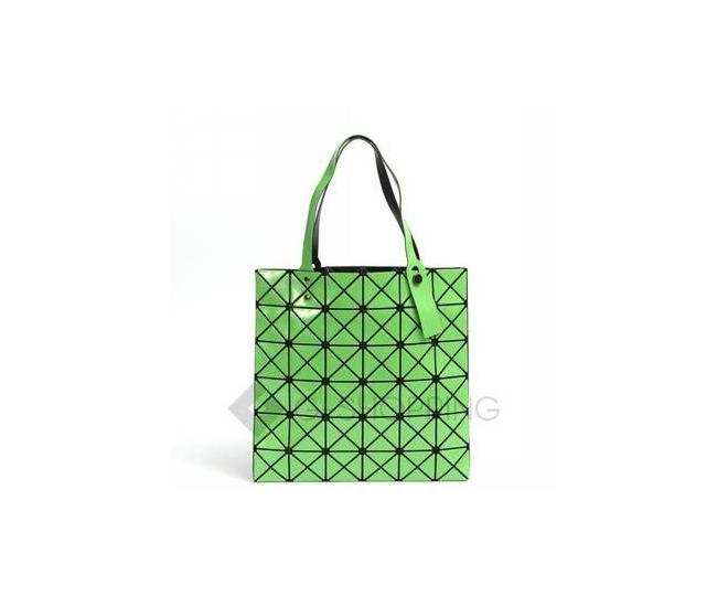 Женская зеленая сумка на молнии с треугольниками среднего размера C117-16, фото 5