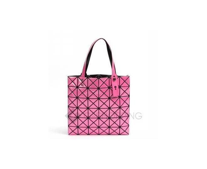 Женская розовая сумка на молнии с треугольниками среднего размера  C117-11, фото 5
