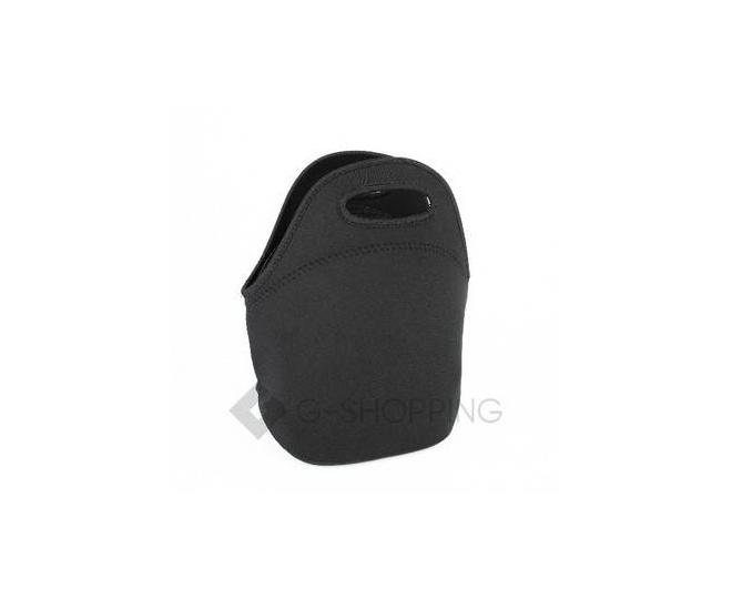 Женская черная сумка из неопрена среднего размера на молнии Kingth Goldn, фото 1