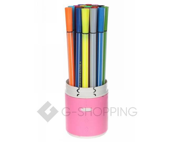 Набор детских смываемых фломастеров 18 цветов в розовом пластиковом пенале CP007-18-11 DOLEMIKKI, фото 1