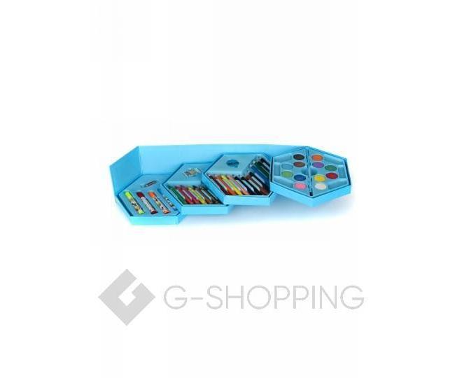 Детский набор для рисования из 46 предметов в синей картонной коробке CP001-07 DOLEMIKKI, фото 2