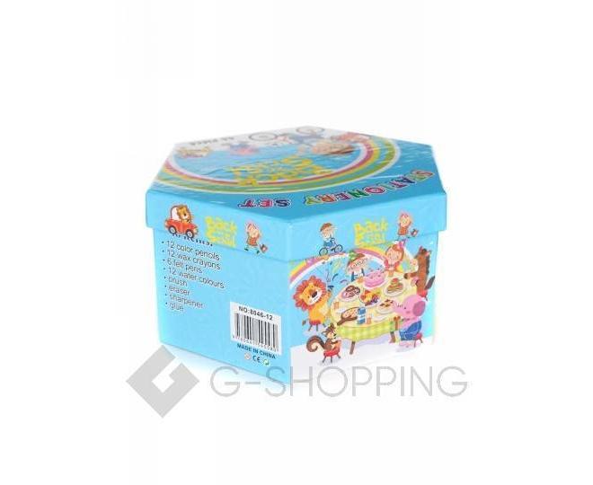 Детский набор для рисования из 46 предметов в синей картонной коробке CP001-07 DOLEMIKKI, фото 3