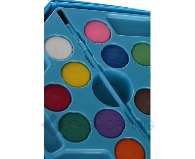 Детский набор для рисования из 46 предметов в синей картонной коробке CP001-07 DOLEMIKKI, фото 4