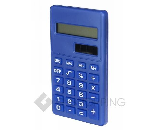 Карманный 8-разрядный калькулятор в пластиковом корпусе темно-синий JSQ06-06 Удачная покупка, фото 1