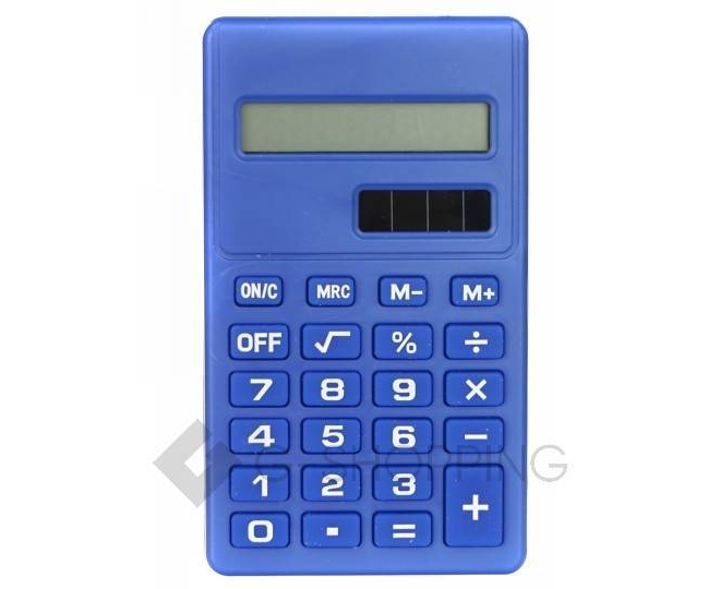 Карманный 8-разрядный калькулятор в пластиковом корпусе темно-синий JSQ06-06 Удачная покупка, фото 2