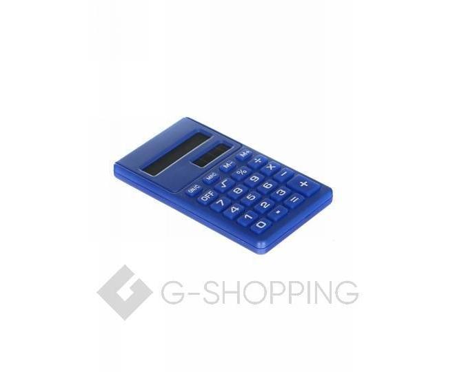 Карманный 8-разрядный калькулятор в пластиковом корпусе темно-синий JSQ06-06 Удачная покупка, фото 3