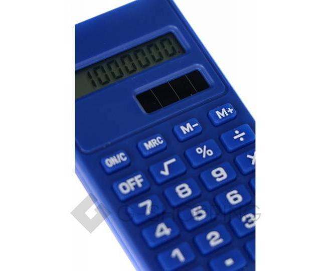 Карманный 8-разрядный калькулятор в пластиковом корпусе темно-синий JSQ06-06 Удачная покупка, фото 4