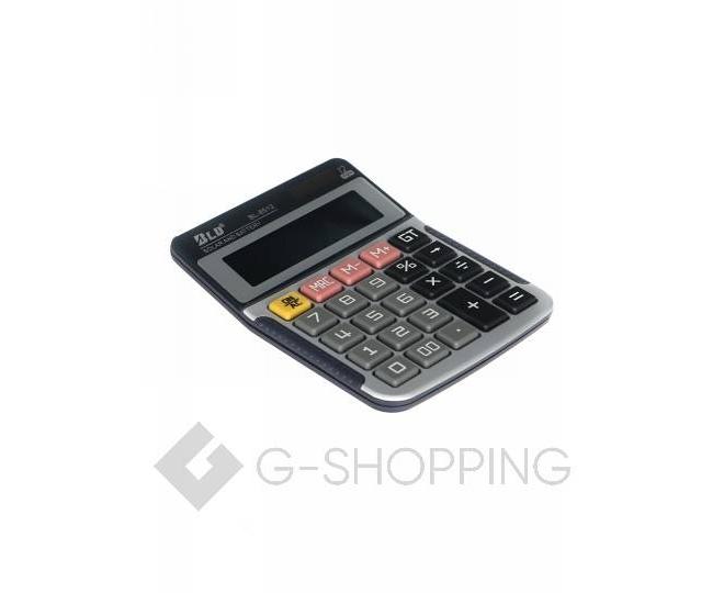 Настольный 12-разрядный калькулятор в пластиковом корпусе BL-8512 JSQ07 Удачная покупка, фото 3