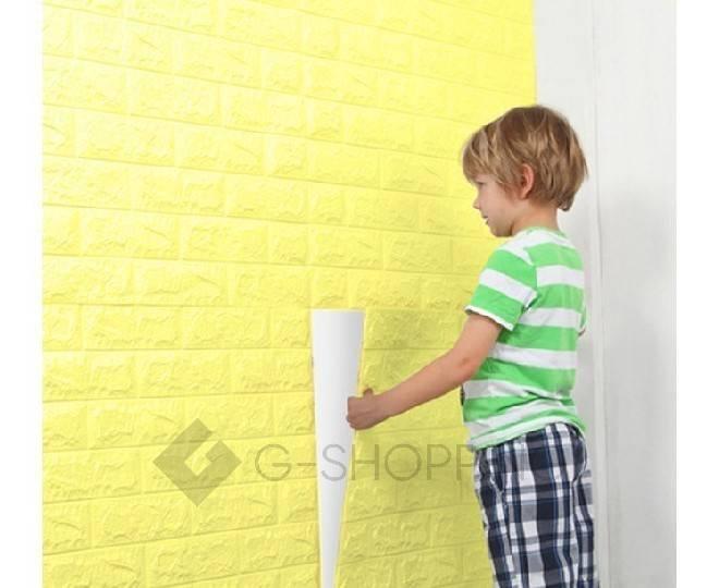 Панели для стен мягкие желтые 70*77*0.1, фото 6