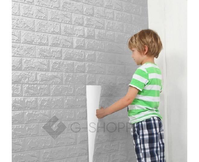 Самоклеющиеся панели для стен мягкие серые 70*77*0.1, фото 6