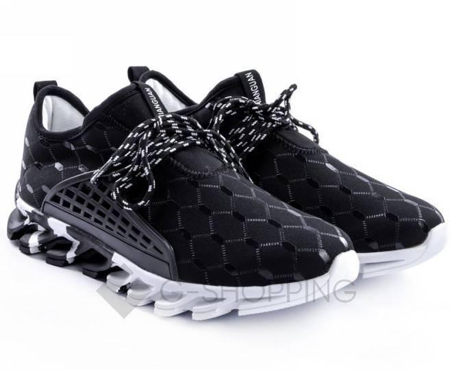 Стильные мужские кроссовки черные 45 размер YDX07-01-45 KINGTH GOLDN, фото 1