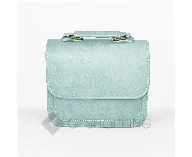 Женская маленькая голубая сумка кросс-боди на магнитной застежке c083 Kingth Goldn, фото 6